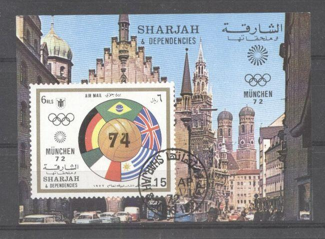 Sharjah 1972 Sport, Olympics, imperf.sheet, used   AG.054