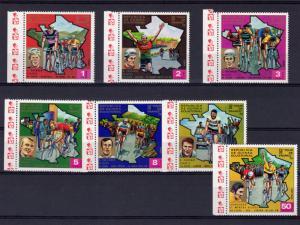 Equatorial Guinea 1973 Sc#7365/7371 Tour de France Bicycle race Set(7) Perf.MNH