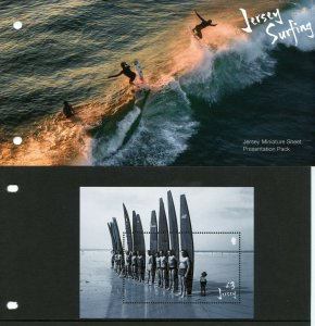 Jersey 2021 MNH Sports Stamps Surfing Landscapes Beaches 1v M/S Pres Pack