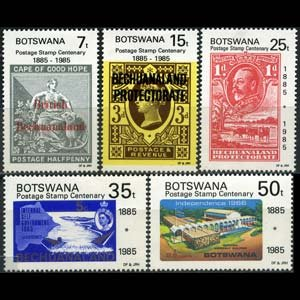 BOTSWANA 1985 - Scott# 363-7 Stamps Cent. Set of 5 NH