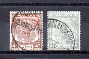 Malaya - Perak 108-109 used