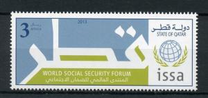 Qatar 2013 MNH World Social Security Forum ISSA 1v Set Stamps