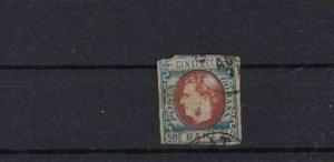 ROMANIA 1869 50 BANI USED  IMPERF   STAMP  REF 5853