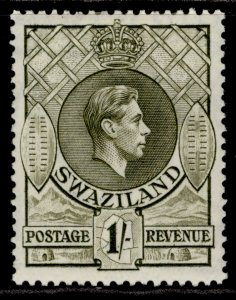 SWAZILAND GVI SG35a, 1s brown-olive, M MINT.