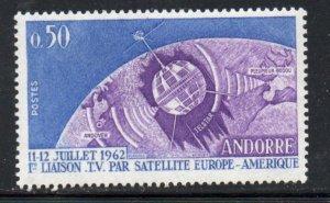Andorra (Fr) Sc 154 1962 Telstar  stamp mint NH