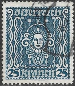 Austria 1922 Issue Scott # 289 Used. Free Shipping for All Additional Items.