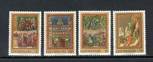Luxembourg 1971 MNH Stamps Scott 495-498 Medieval Miniatures Agriculture