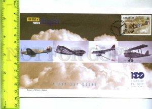 242116 KIRIBATI 100 years of FLIGHT PLANES 2003 year FDC