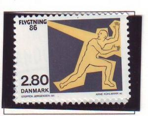 Denmark Sc 829 1986 Refugee Council Campaign stamp mint NH