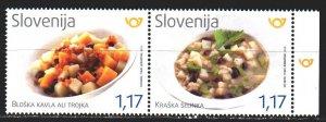 Slovenia. 2019. 1394-95. Gastronomy, Slovenian dishes. MNH.