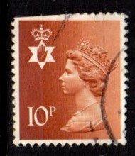 Northern Ireland - #NIMH13 Machin Queen Elizabeth II - Used