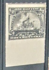 United States R162 1898 1/2 c battleship slate violet Mint. HUGE STAMP!!