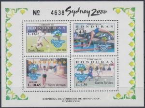 Honduras stamp Summer Olympics, Sydney II block MNH 2000 Mi 68 A WS151190