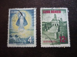 Stamps - Cuba - Scott# 559,C149 - Used Set of 2 Stamps