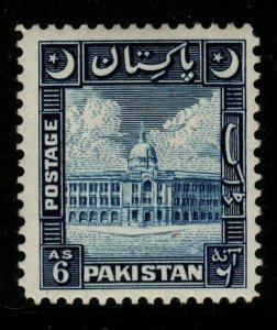PAKISTAN SG48 1949 6a BLUE MTD MINT
