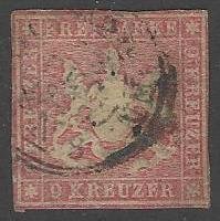 Wurttemberg #17 Used Single Stamp