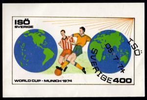 Sweden - Isö Local Post Souvenir Sheet Cinderella (Soccer)