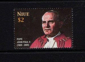 Niue #794 (2005 Pope John Paul issue)  VFMNH CV $3.00