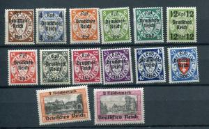 Germany Danzig 1939 Mi 716-729 Sc 241-54 MNH CV €220 Overprint  7136