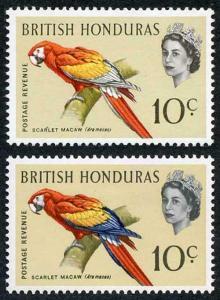 British Honduras SG207a 1962 Birds 10c blue omitted U/M