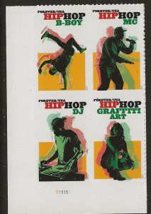 Catalog # 5483 Plate Block of 4 Hip Hop Cultural Dance and Music