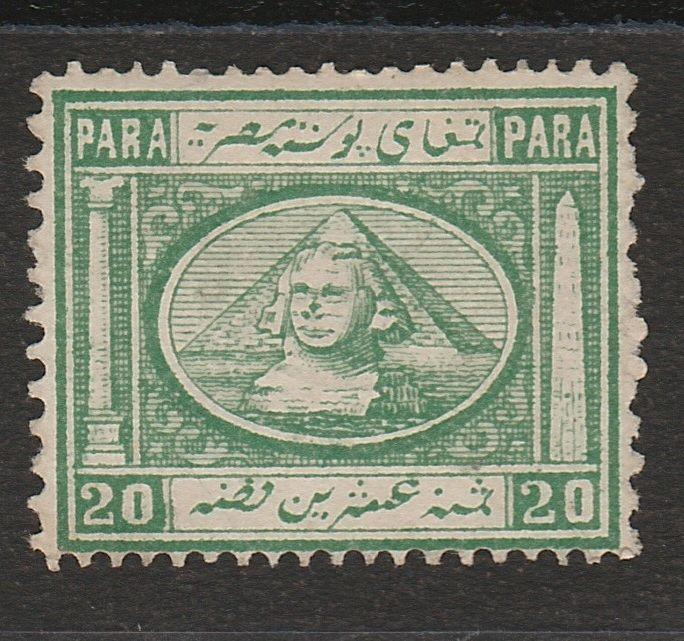 EGYPT 1867 SPHINX AND PYRAMID 20PA TYPE I NO GUM