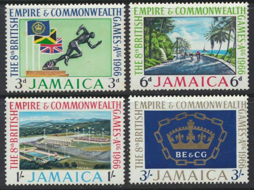 Jamaica SG 254-7 Mint Hinged   SC# 254-7 Commonwealth Games see details