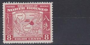 NORTH BORNEO  1939  S G 308  6C   BLUE & CLARET    MH