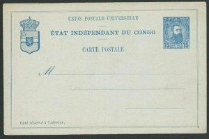 BELGIAN CONGO 15c postcard - fine unused...................................51228