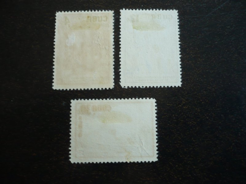 Stamps - Cuba - Scott# 583,C173-C174- Used Set of 3 Stamps
