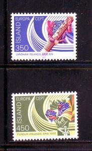 Iceland Sc554-5 1982 Europa 1st settlement stamps mint
