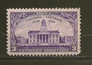USA 838 Iowa Mint Hinged