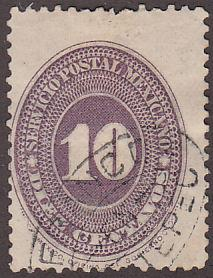 Mexico 180a Used 1887 Numeral Issue