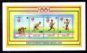 Nevis 569e Summer Olympics Souvenir Sheet MNH VF