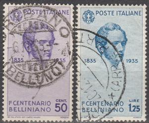 Italy #351-2   F-VF Used  CV $21.60