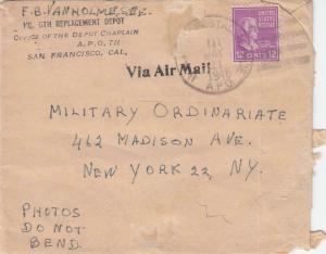 1946, APO 711, Philippines to New York City, NY, Prexie (M3282)