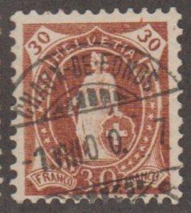 Switzerland Scott #95 Stamp - Used Single