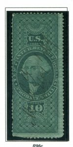 US Scott #R96a   $10 Probate of Well Stamp.  Free Shipping.
