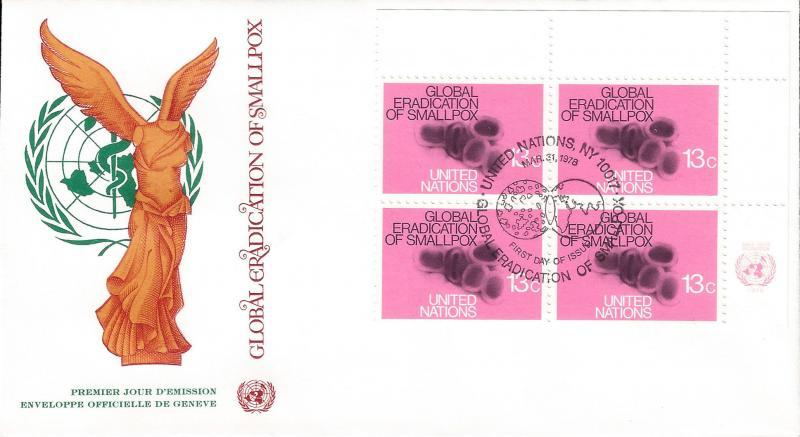 United Nations NY 1979 Sc 294-95 ib4 FDC