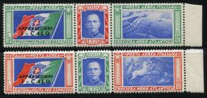FABULOUS LOT OF ITALY BALBOA SCOTT#C48/49  6 PAIRS  MINT STAMPS  NEVER HINGED