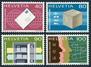 Switzerland UPU 9O10-9O13,MNH. Bureau UPU 1976.Mail,Money Orders,Technical Coop.