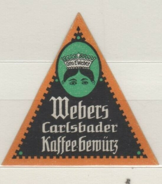 Germany - Weber's Coffee Advertising Stamp, Carlsbad - NG