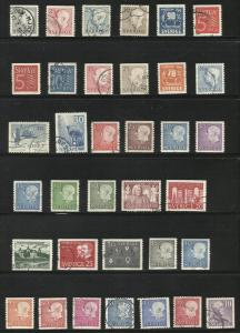 35 Sweden used stamps