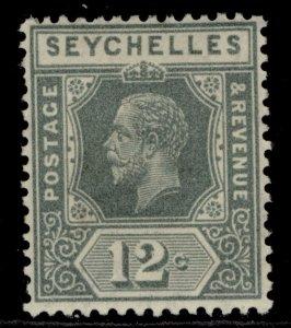 SEYCHELLES GV SG107, 12c grey, M MINT.