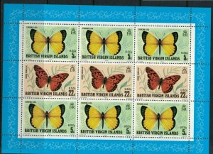 Virgin Islands 343a* NH CV $5.00 Butterflies stamps Souvenir sheet