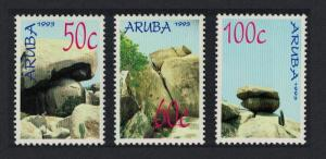 Aruba Rock Formations 3v 1993 MNH SG#123-125