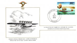 Central African Republic, Worldwide First Day Cover, Aviation