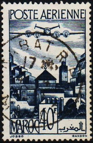 Morocco(French). 1947 40f S.G.339 Fine Used