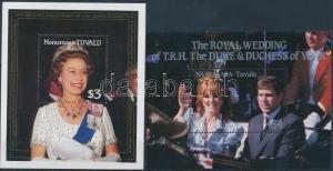 Tuvalu-Nanumaga stamp 1986-1987 Queen Elizabeth II 2 diff blocks WS196325