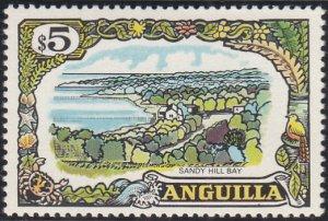 Anguilla 1970 MH Sc #113 $5 Sandy Hill Bay